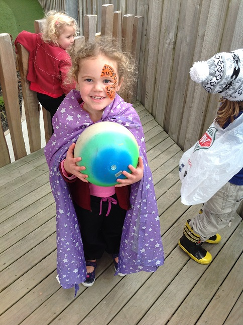 Enjoying dressup at our early learning centre