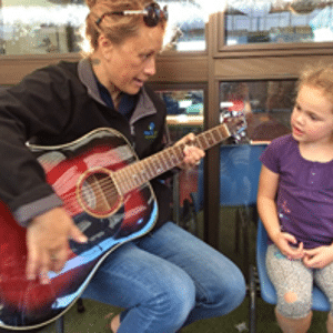Enjoying some music at our Childcare Centre Te Rapa