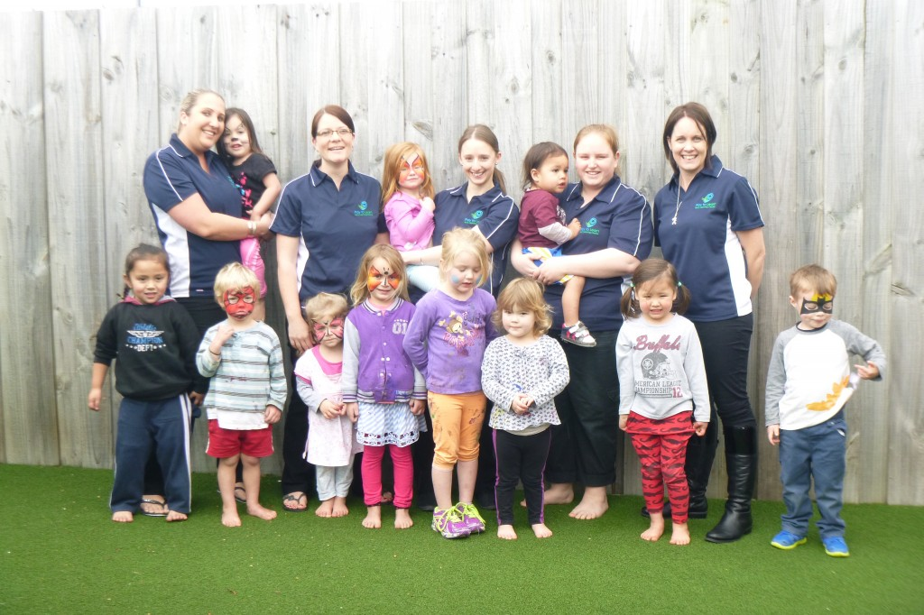 Our teachers and some of the children - affordable childcare rates at a boutique child care centre